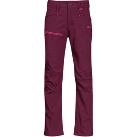 Bergans Lilletind LT Softshell Hose Kinder beet red/raspberry